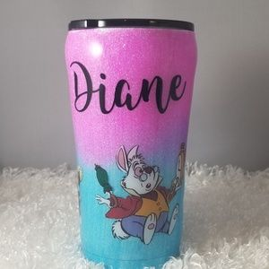 I'm Late Alice In Wonderland theme tumbler